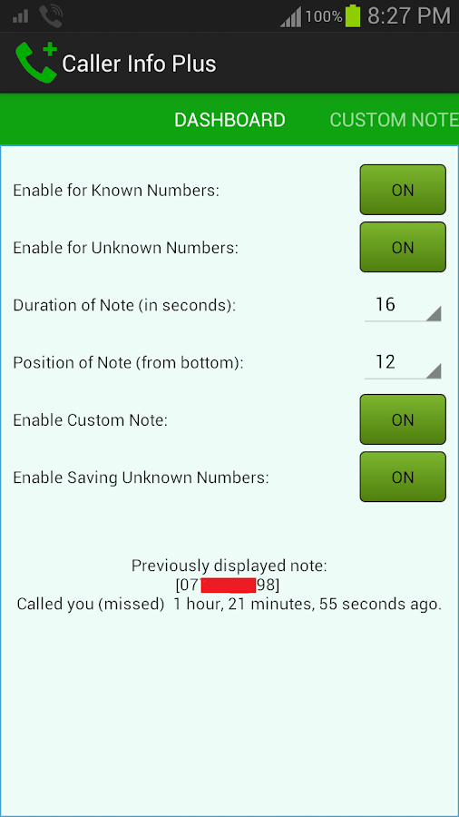 Caller Info Plus- screenshot