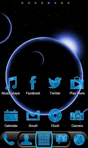Future Phone Blue SUPER Theme