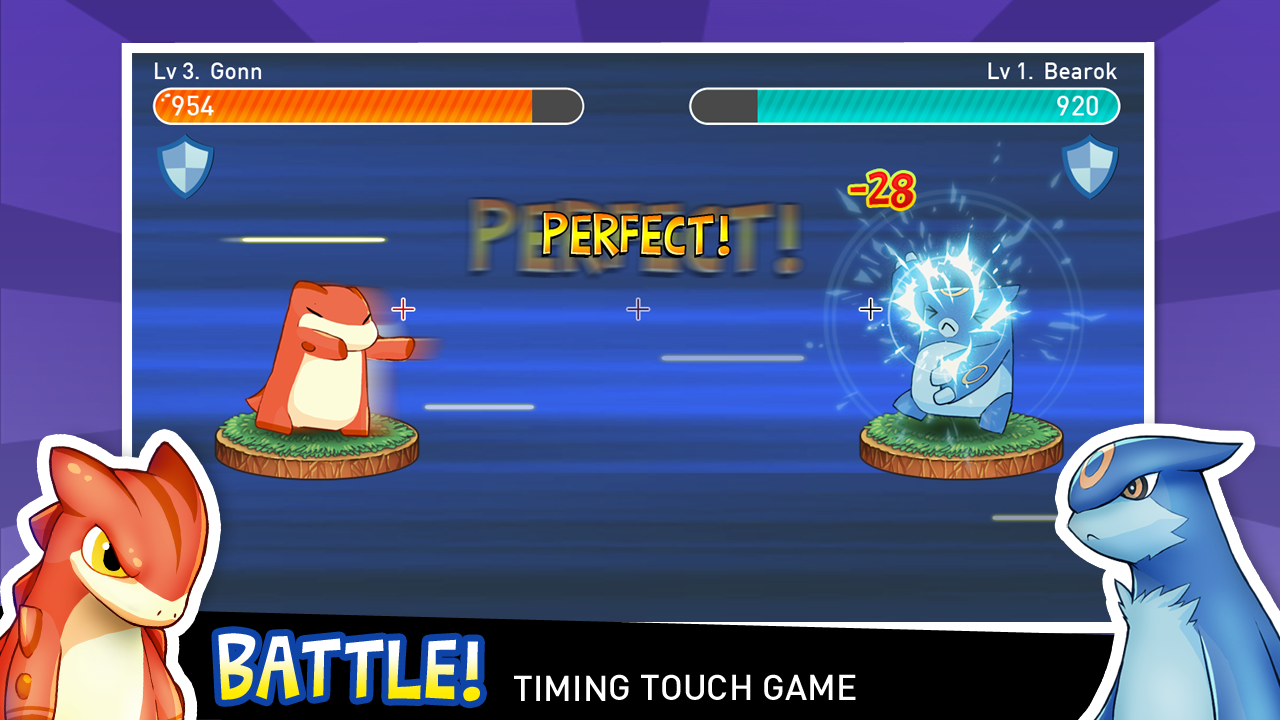 Tap Tap Monsters pocket dragon- screenshot