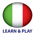 Learn and play. Italian + icon