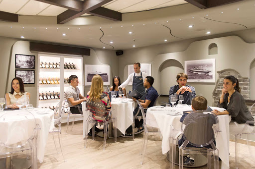 MSC-Cruises-Ristorante-Italia - Casual with understated elegance, Ristorante Italia is an intimate space with a prix fixe menu on MSC Divina and MSC Preziosa.  Menus feature a variety of dishes made with ingredients sourced through the Slow Food Foundation.