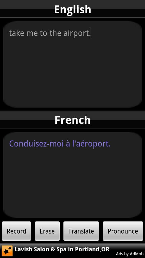 BabelFish Voice: French - screenshot
