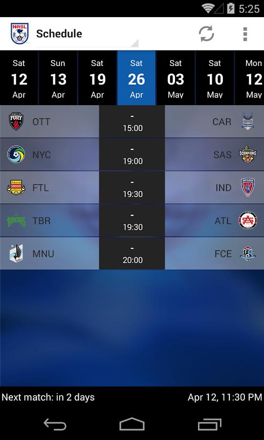 North American Soccer League - screenshot