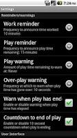Screenshot of PlayTimer