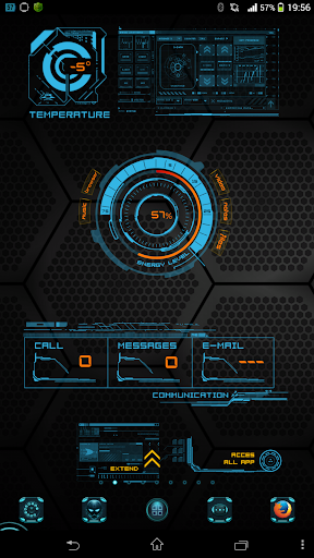 Hud iron man android theme