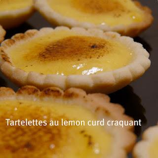 Bruleed Lemon Tartletts.