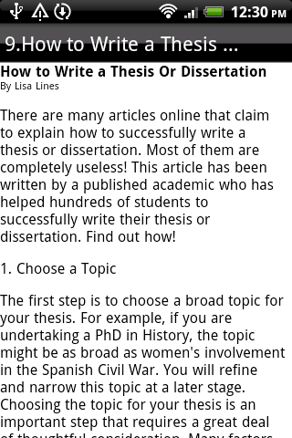 how to write a thesis statement google