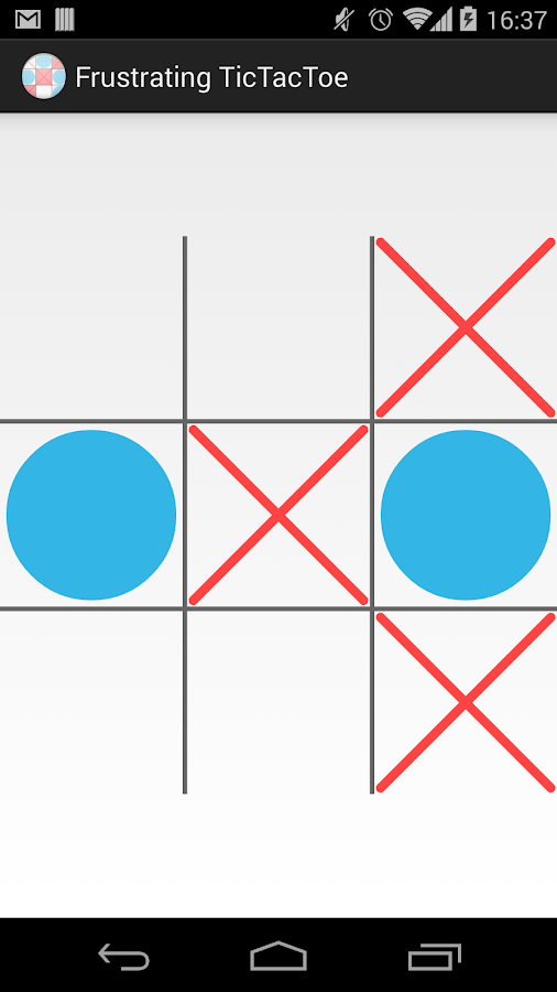 Frustrating TicTacToe - screenshot