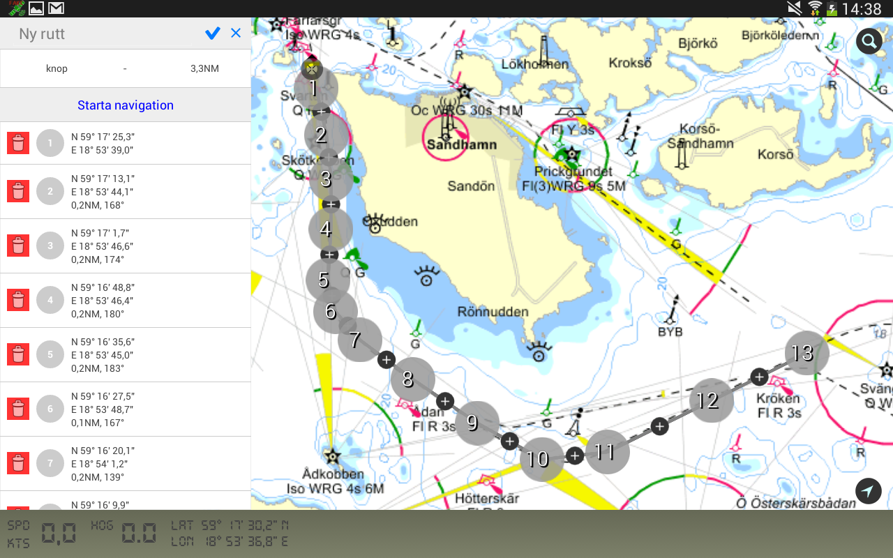 Eniro på Sjön - screenshot