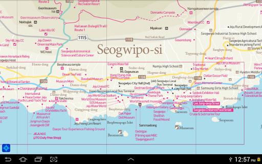Jeju Tour Map No Acceleration