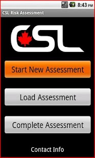 CSL Risk Assessment App - screenshot thumbnail