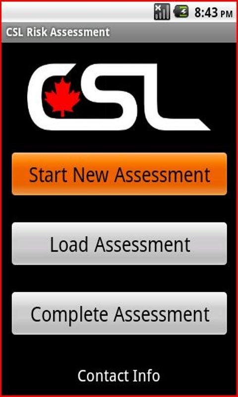 CSL Risk Assessment App - screenshot