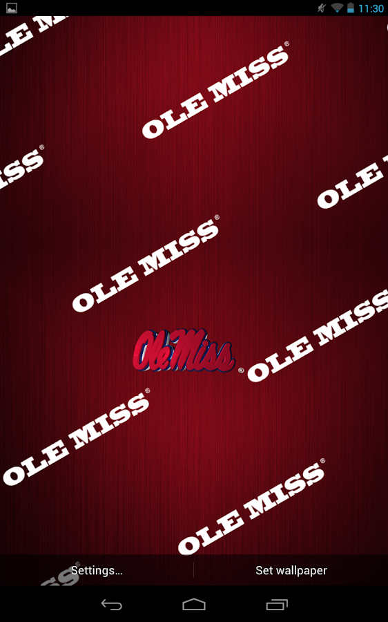 Ole Miss Rebels Live Wallpaper - screenshot