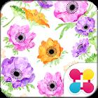 花主題 水彩花朵 icon