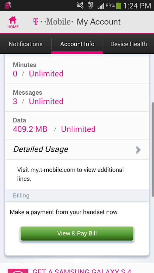T-Mobile MyAccount [Legacy] - screenshot