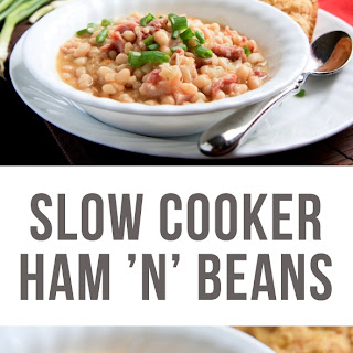 Slow Cooker Ham 'n' Beans.