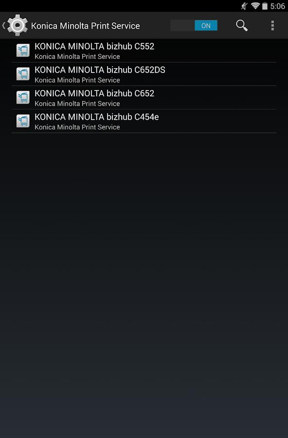 Konica Minolta Print Service Screenshot