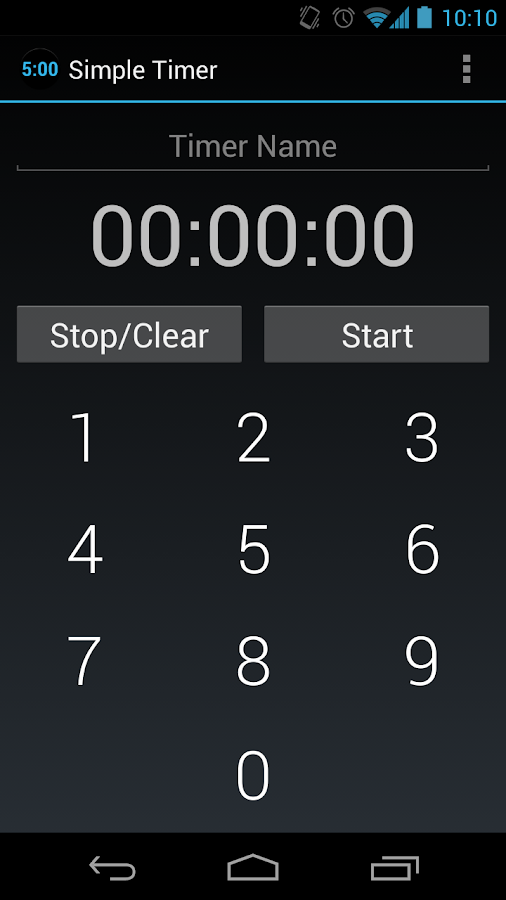 Simple Timer- screenshot