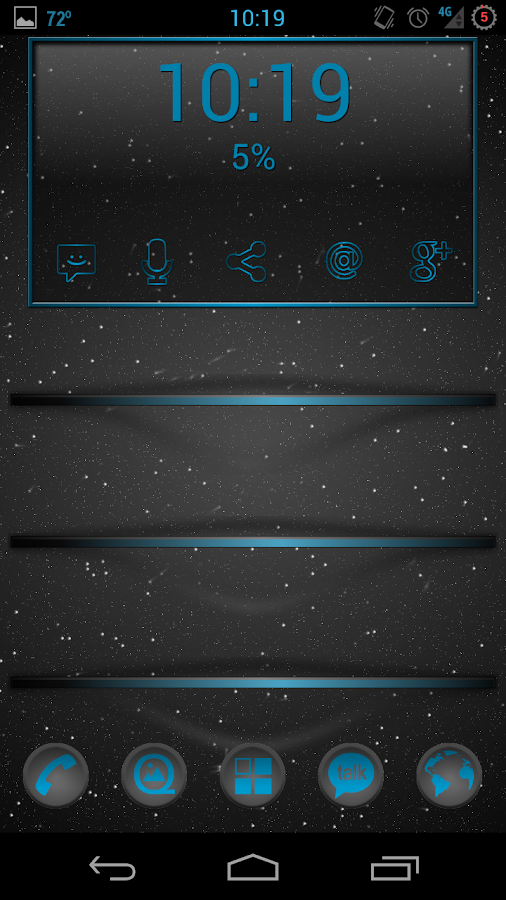 Holo Window UCCW Skin - screenshot