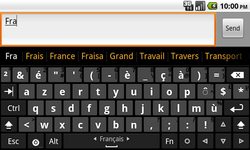 French dictionary (Français)- screenshot