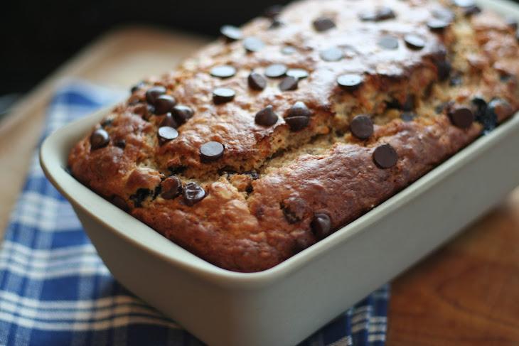 Blueberry Chocolate Chip Banana Oat Bread Recipe