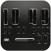 Digi Clock Widget Black Ronin
