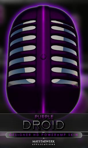 Poweramp 皮膚紫ドロイド
