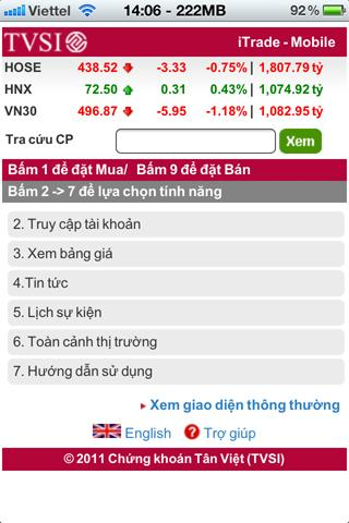 Chung khoan Tan Viet (TVSI) - screenshot