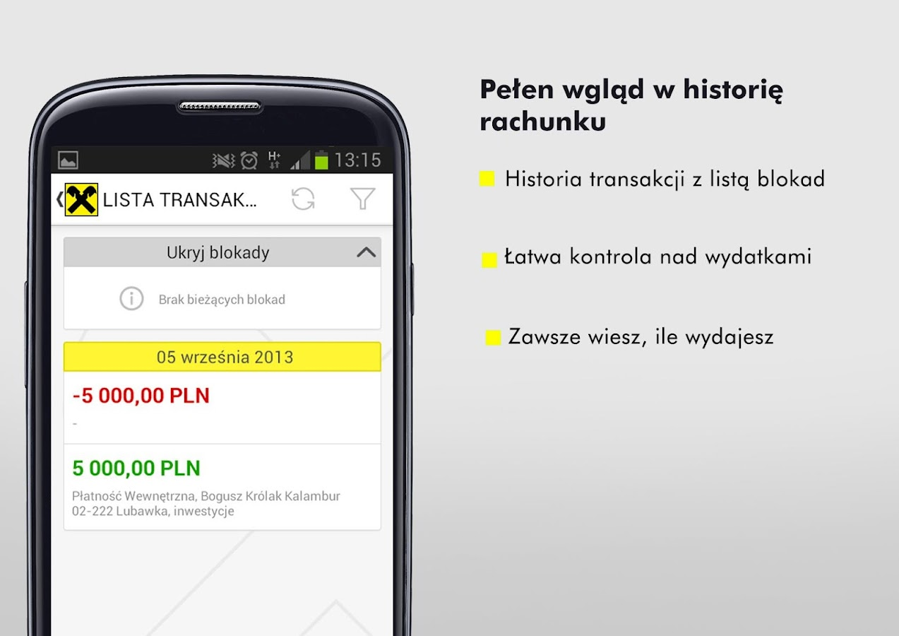Mobile Bank - screenshot
