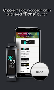Modern Triangle Clock Screenshot
