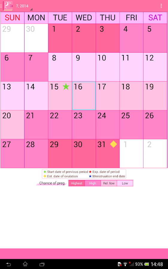 Woman's DIARY period・diet・cal- screenshot
