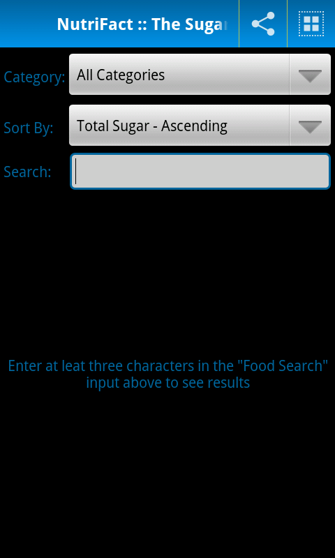 NutriFact :: Sugar- screenshot