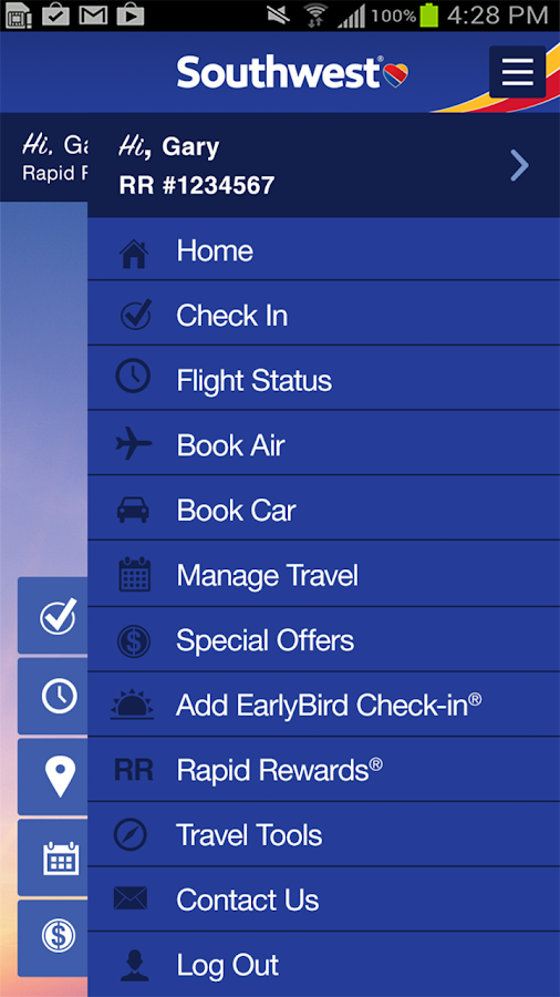 We've partnered with rideshare company Lyft to give Customers a better day-of-travel experience within the Southwest app. Book your ride through the SWA app up to four hours prior to your flight and make the trip to the airport a breeze.