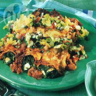 Pork And Spinach Enchiladas