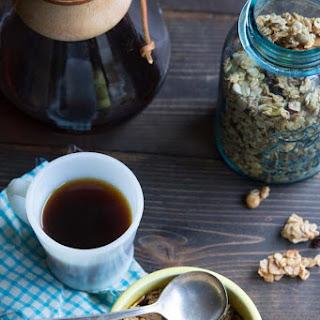 Cherry and Hazelnut Granola with Clusters.