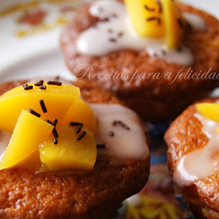 Sugar Glazed Peach Cupcakes