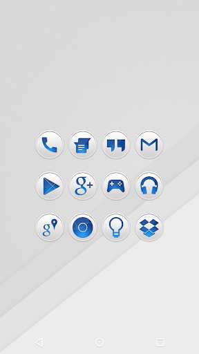 Clean Blue - Icon Pack