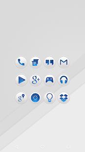 Clean Blue - Icon Pack Screenshot 1