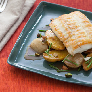 Sautéed Flounder with Baby Root Vegetables & Brown Butter Tamarind Sauce.