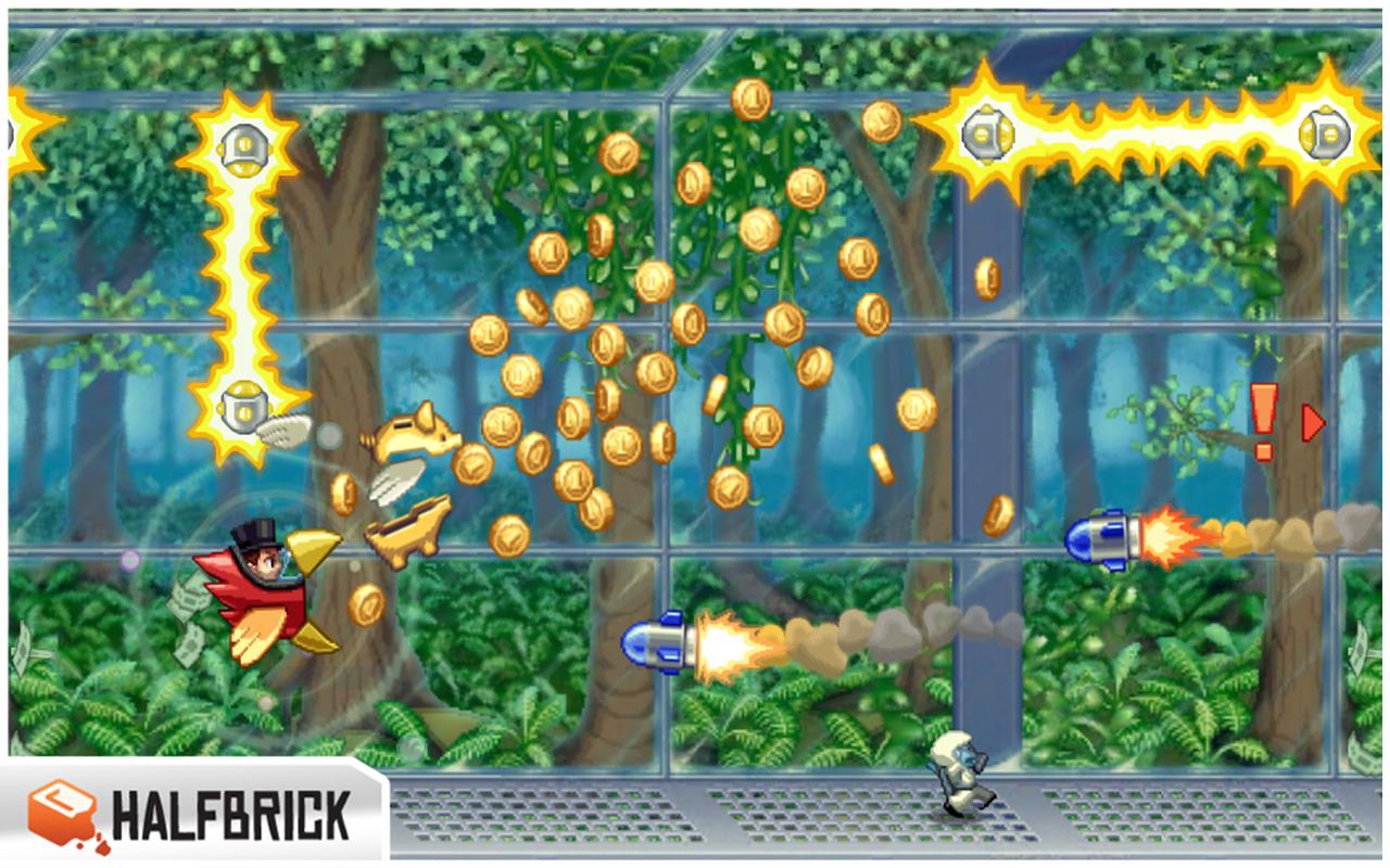 لعبة رائعة ومشهورة في متجر جوجل بلاي Jetpack Joyride