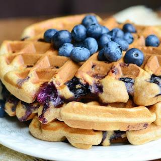 Whole Wheat Blueberry Vanilla Waffles