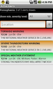 Active Alerts - Weather Alerts - screenshot thumbnail