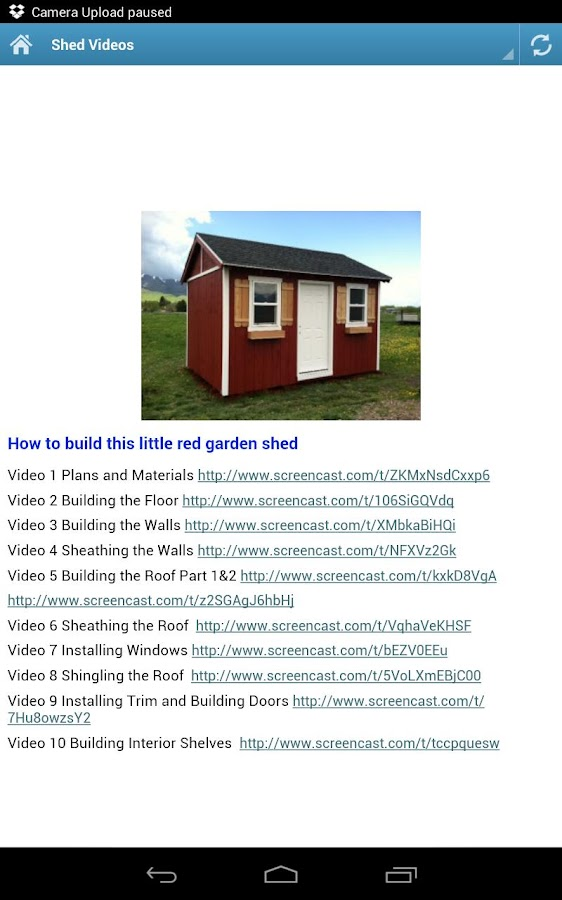 How to build garden shed plan android apps on google play for My shed app
