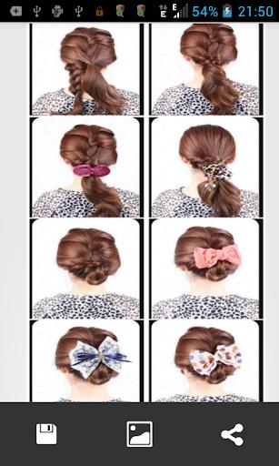 三つ編みヘアスタイルステップ