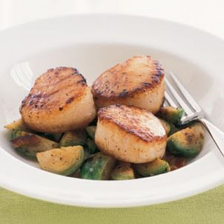 Scallops with Brussels Sprouts & Bacon