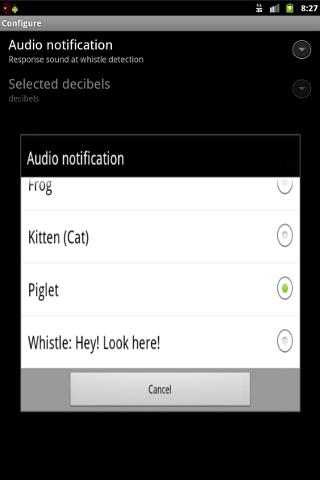 Whistle Droid Finder- screenshot