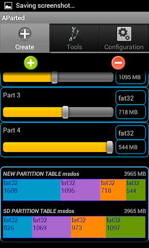 AParted Sd card Partition