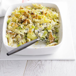 Leek & Mackerel Penne Bake.