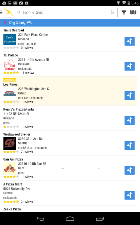 Yellow Pages Local Search - screenshot