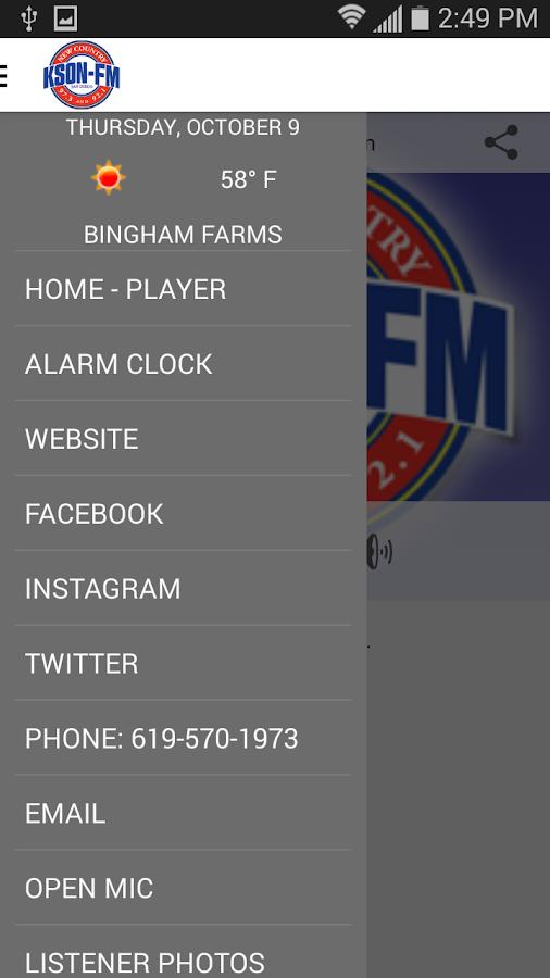 KSON-FM San Diego Country- screenshot
